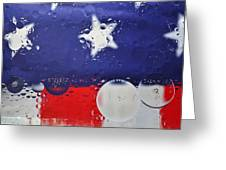 Abstract Stars And Stripes Greeting Card