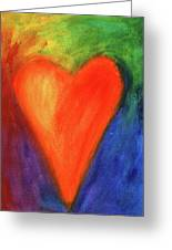 Abstract Orange Heart 1 Greeting Card