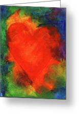 Abstract Orange Heart 2 Greeting Card