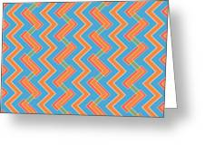 Abstract Orange, Red And Cyan Pattern For Home Decoration Greeting Card