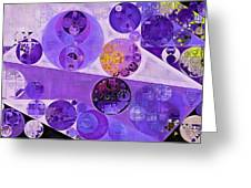 Abstract Painting - Blackcurrant Greeting Card
