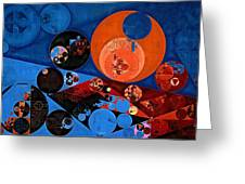 Abstract Painting - Dark Midnight Blue Greeting Card