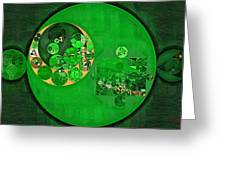 Abstract Painting - Deep Fir Greeting Card