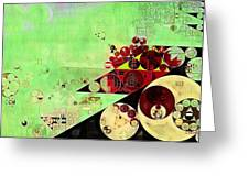 Abstract Painting - Feijoa Greeting Card
