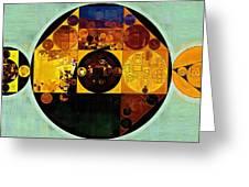 Abstract Painting - Gamboge Greeting Card