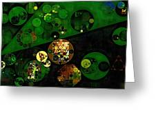 Abstract Painting - Lincoln Green Greeting Card