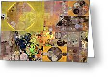 Abstract Painting - Pale Brown Greeting Card