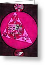 Abstract Painting - Persian Pink Greeting Card