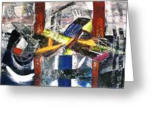 Abstract Painting Greeting Card by Robert Thalmeier