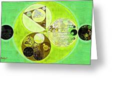 Abstract Painting - Sulu Greeting Card