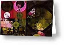 Abstract Painting - Tonys Pink Greeting Card