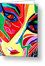 Abstract Painting - Woman Of Colors Greeting Card