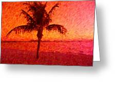 Abstract Palm Greeting Card