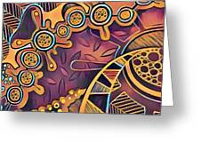 Abstract Pattern With Purple Greeting Card