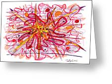 Abstract Pen Drawing Fifteen Greeting Card