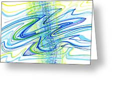 Abstract Pen Drawing Forty Greeting Card