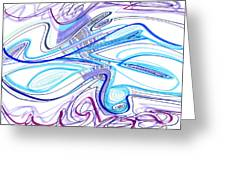 Abstract Pen Drawing Forty-two Greeting Card