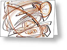 Abstract Pen Drawing Ten Greeting Card