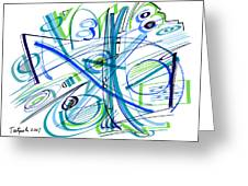 Abstract Pen Drawing Thirty-three Greeting Card