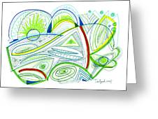 Abstract Pen Drawing Thirty-two Greeting Card