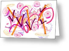 Abstract Pen Drawing Twenty-six Greeting Card