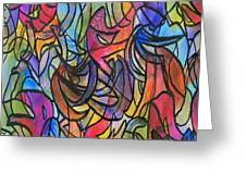 Abstract Pen Greeting Card