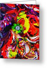 Abstract Perfection - Good Luck-holding It Firmly Greeting Card