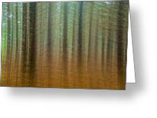 Abstract Pines Greeting Card