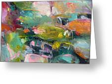 Abstract Pond 2 Greeting Card