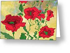 Abstract Poppies Greeting Card