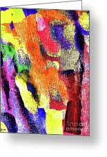 Abstract Poster Greeting Card