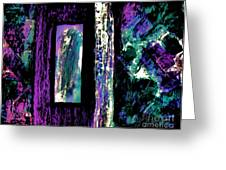 Abstract Purple Door Greeting Card