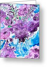Abstract-purple Summer Greeting Card