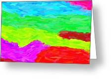Abstract Rainbow Art By Adam Asar 3 Greeting Card