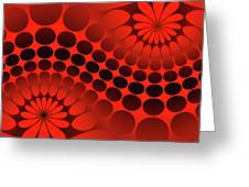 Abstract Red And Black Ornament Greeting Card