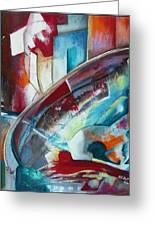 Abstract Red And Blue A Greeting Card