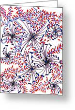 Abstract Red And Blue Design  Greeting Card