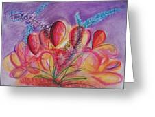 Abstract Red And Purple And Blue Greeting Card