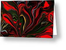 Abstract- Red Flower Garden Greeting Card