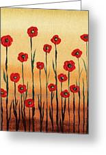 Abstract Red Poppy Field Greeting Card