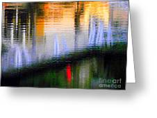 Abstract Reflection In Water 02 Greeting Card
