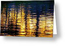 Abstract Reflection In Water 03 Greeting Card