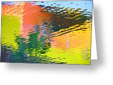 Abstract Reflection In Water 04 Greeting Card
