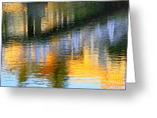 Abstract Reflection In Water 05  Greeting Card