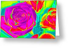 Blooming Roses Abstract Greeting Card
