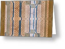 Wood And Blue Greeting Card