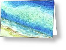 Abstract Seascape Beach Painting A1 Greeting Card