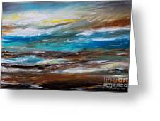 Abstract Seascape Greeting Card