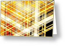 Abstract Shining Lines Greeting Card
