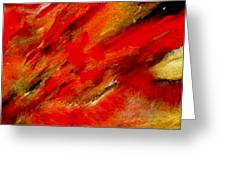 Abstract-simple Red 3 Greeting Card